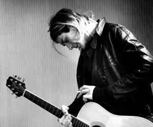 kurt cobain, nirvana, and guitar image
