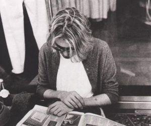kurt cobain, nirvana, and newspaper image