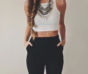 braid, clothes, and girls image