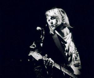 black and white, music, and nirvana image