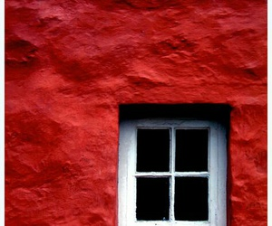 red and window image