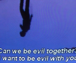 evil, love, and together image