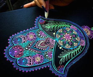 beautiful, girl, and mandala image