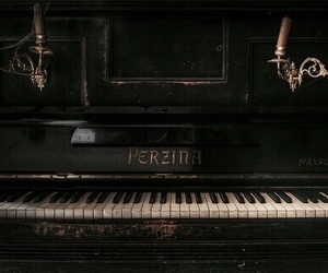 piano, music, and aesthetic image