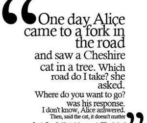 quote, alice, and wonderland image