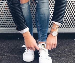 accessories, jeans, and ripped image