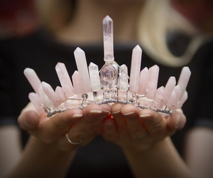 crown, pink, and crystal image