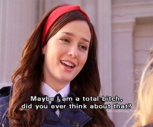 gossip girl, bitch, and blair waldorf image