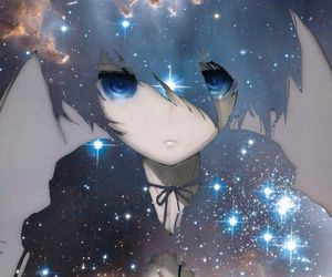 black rock shooter, anime, and galaxy image