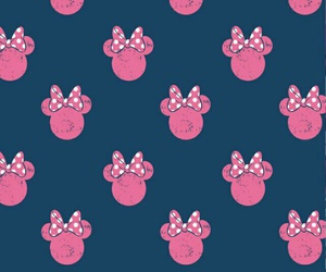 blue, minnie mouse, and pink image