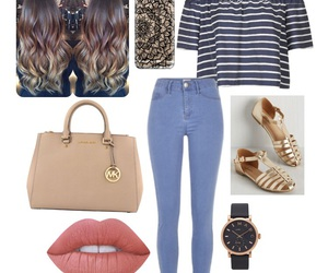 black, blue, and girly image