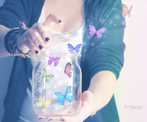butterfly, photography, and magic image