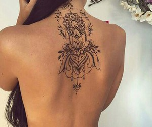 Tattoos, backtattoo, and girlstattoo image