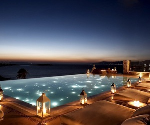 pool, luxury, and light image