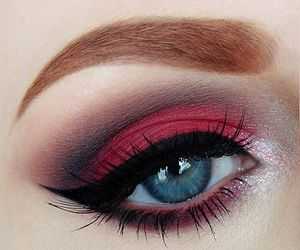 eyes makeup red image