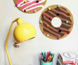 donuts, diy, and pink image