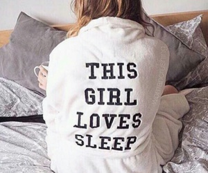 girl, sleep, and bed image
