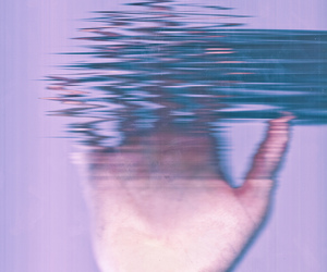 distorted tv image
