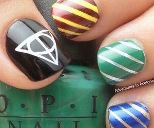 nails, harry potter, and slytherin image