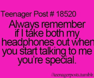 special, headphones, and quotes image