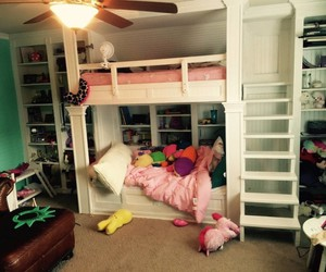 beds, Built In, and bunk image