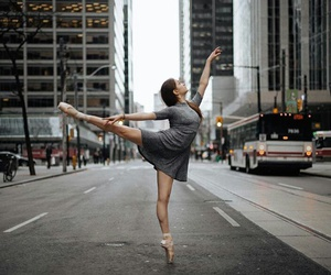 ballerina, dance, and outdoors image