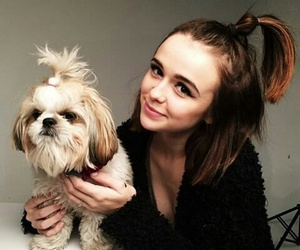 acacia clark, dog, and acacia brinley image