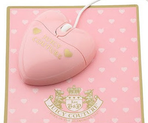 pink, juicy couture, and mouse image