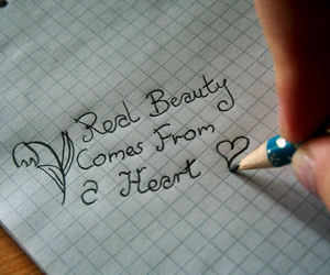beauty, heart, and quote image