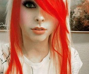 hair, emo, and red image