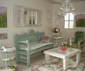 chic, living room, and shabby image