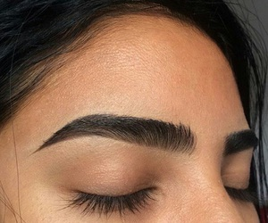 eyebrows, makeup, and beauty image