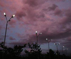 sky, pink, and purple image