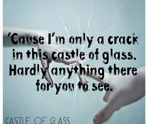 band, crack, and glass image