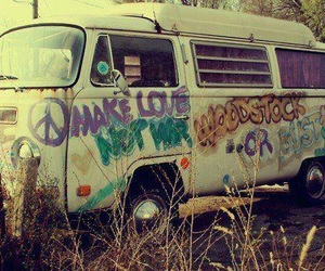 peace, love, and hippie image