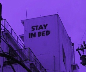 bed, grunge, and stay image