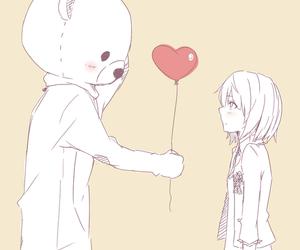 anime, love, and bear image