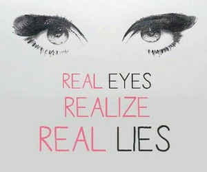 eyes, lies, and real image