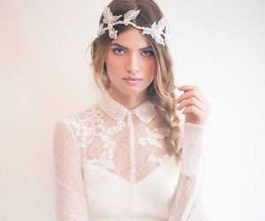 beautiful, dress, and hairstyle image
