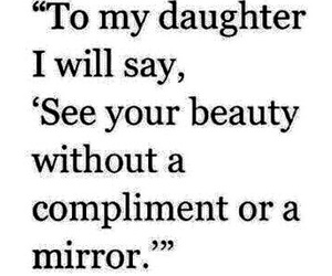 beauty, daughter, and mirror image