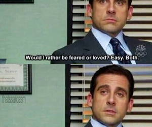 funny, the office, and fear image