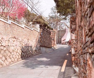 house, korea, and street image