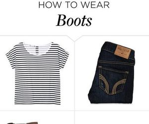 boots, demin, and fashion image