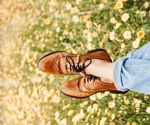 shoes, flowers, and vintage image