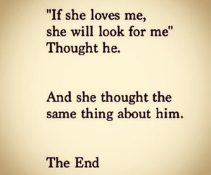 quote, the end, and love image