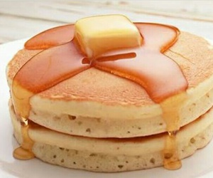 butter, pancakes, and delicious image