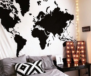 fashion, rooms, and black and white image