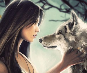 fantasy and wolf image