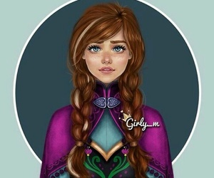 girly_m, frozen, and anna image
