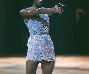 Naomi Campbell, model, and 90s image